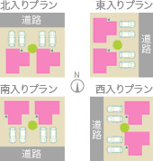 1,土地の活用効率に優れた高性能住宅