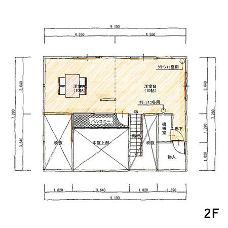 2階床面積 38.56㎡(11.64坪)